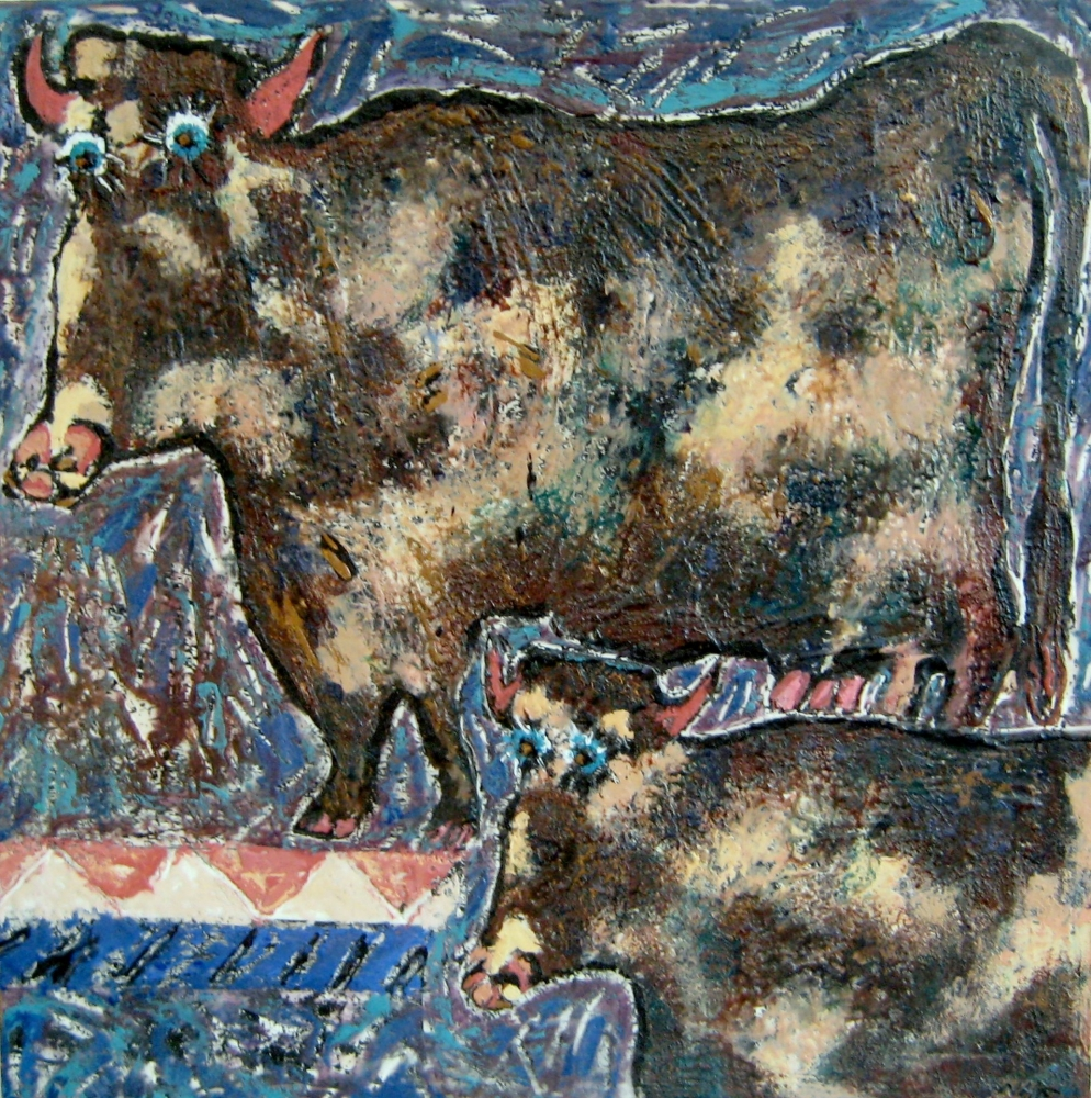 Homage IV to Dubuffet Our Cows