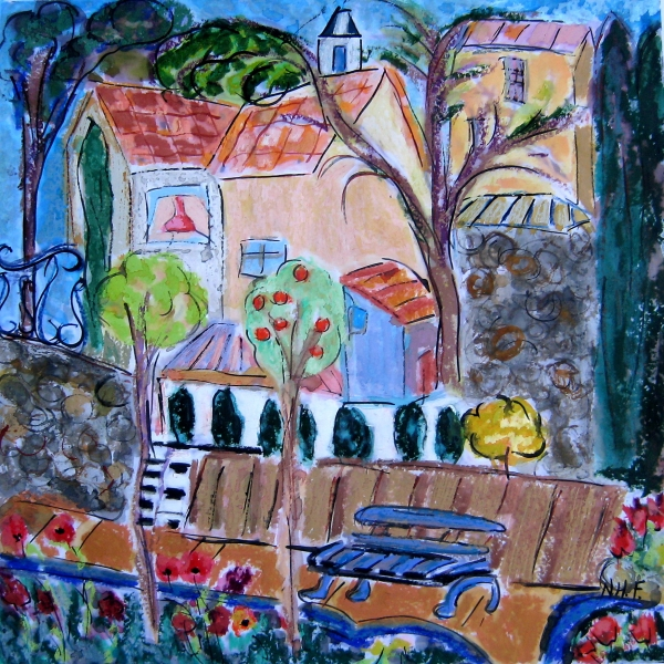 The Blue Bench in Aix II